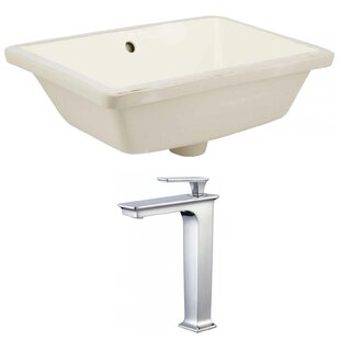 Best Choices Ceramic Rectangular Undermount Bathroom Sink with Faucet and Overflow By Royal Purple Bath Kitchen