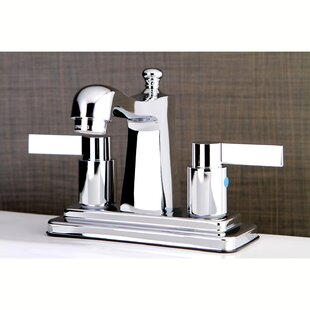 Kingston Brass NuvoFusion Centerset Lavatory Faucet with Drain Assembly