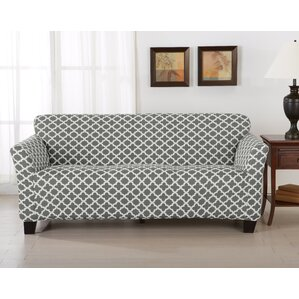Brenna Box Cushion Sofa Slipcover by H..
