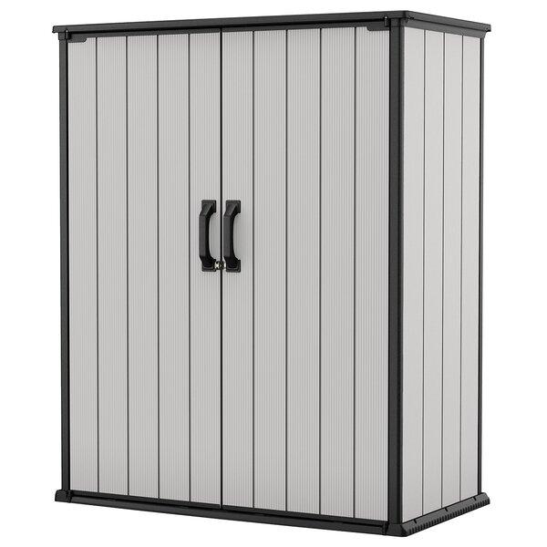 Keter Premier 4 Ft 5 In W X 2 Ft 4 In D Plastic Vertical Storage Shed Reviews Wayfair