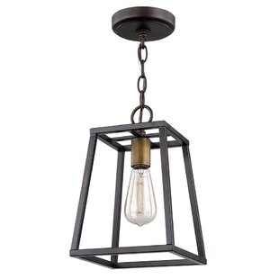 Venetta Open Box 1-Light Square/Rectangle Pendant by Ivy Bronx