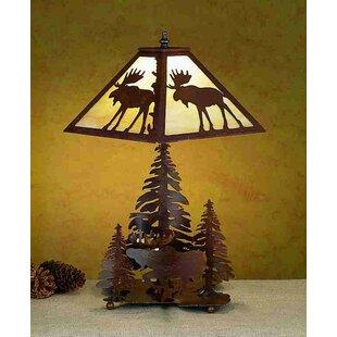 Moose lamps wayfair lone moose 21 table lamp aloadofball Gallery