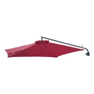 Ebern Designs Buster 8.75' Wall Mounted Umbrella