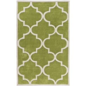 Duffield Light Gray/Lime Geometric Area Rug