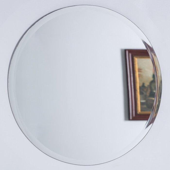 Tukwila Round Frameless Bathroom Vanity Wall Mirror