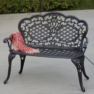Astoria Grand Appleby Aluminum Garden Bench