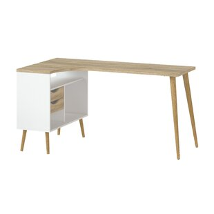 Mateer Wood L-Shape Computer Desk by Langley Street