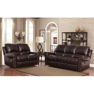 Barnsdale 2 Piece Leather Living Room Set by Darby Home Co