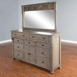 Loon Peak Packard 9 Drawer Dresser with Mirror