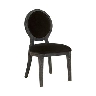 Worlds Away Oval Upholstered Dining Chair