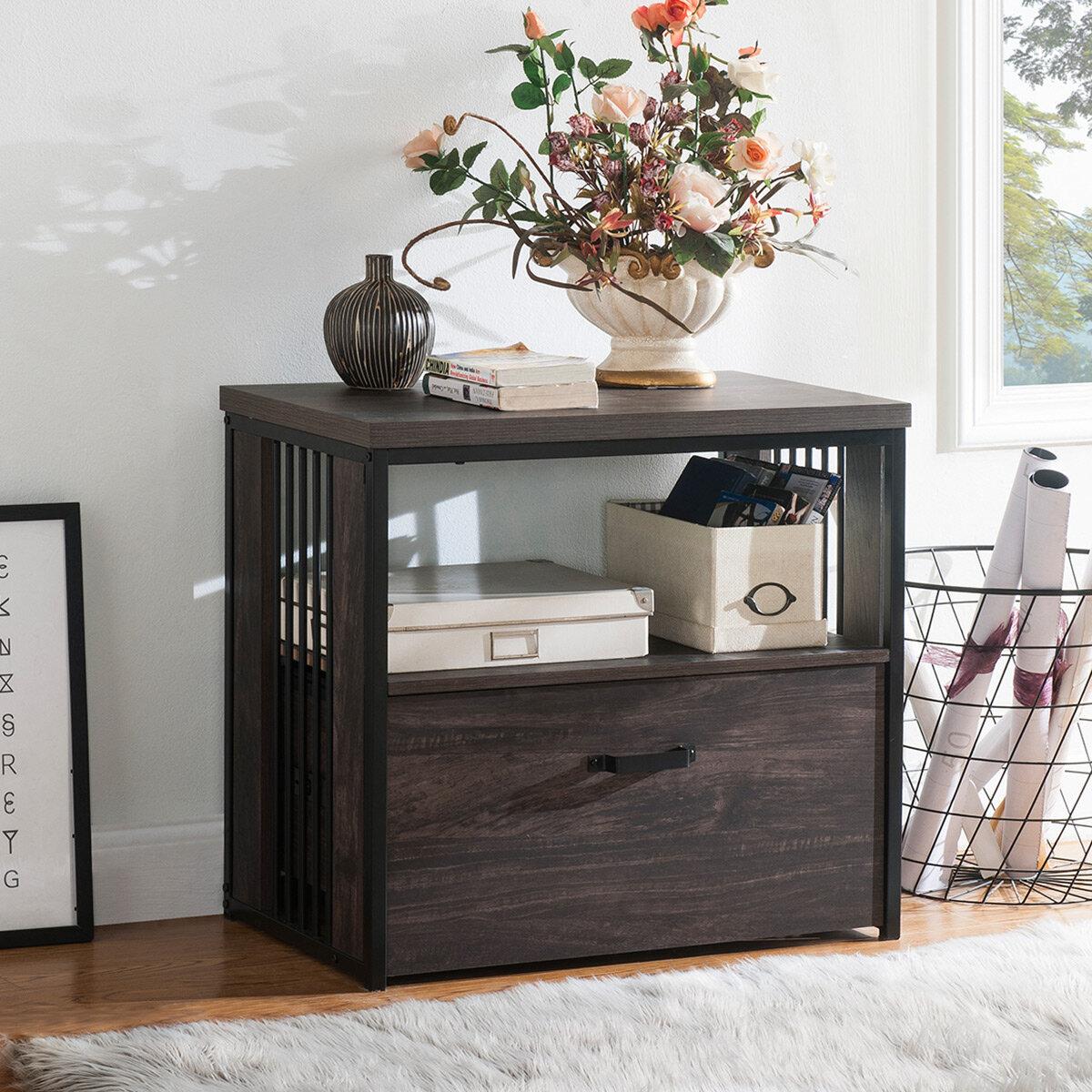 17 Stories Tekamah Home Office 1 Drawer Lateral Filing Cabinet Wayfair