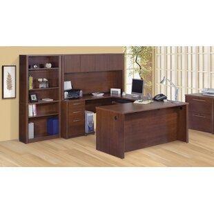 Latitude Run Witchel U-Shape Desk Office Suite with Hutch
