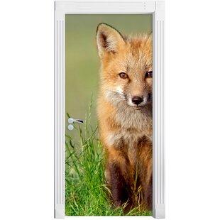 Small Fox Door Sticker By East Urban Home