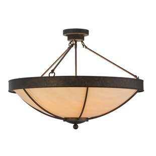 Meyda Tiffany Alysiales 5-Light Semi Flush Mount