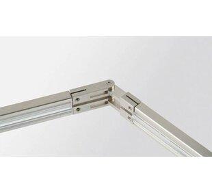 Adjustable Angle Conductive Connector for Track Lighting Rail