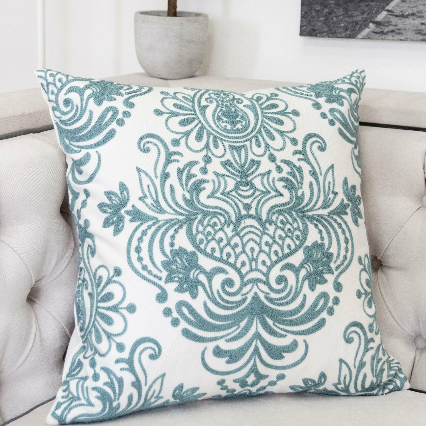 Charlton Home Caston Indoor Outdoor Cotton Throw Pillow Reviews Wayfair