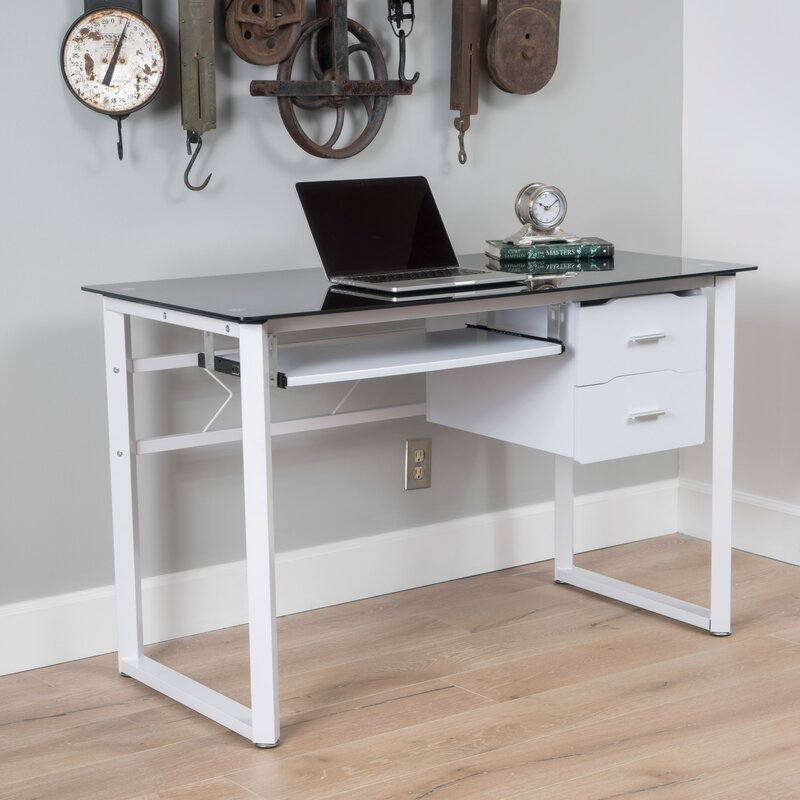 Ailey Tempered Gl Computer Desk