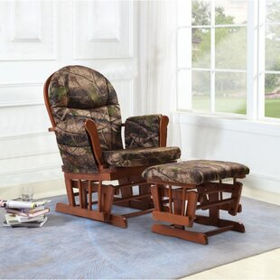 Find a Home Deluxe Camouflage Glider and Ottoman By Artiva USA