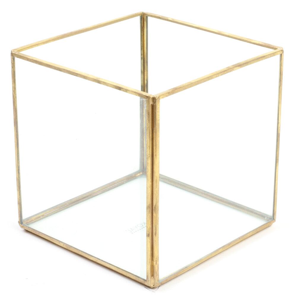 Koyal Wholesale Cube Geometric Table Glass Terrarium Wayfair