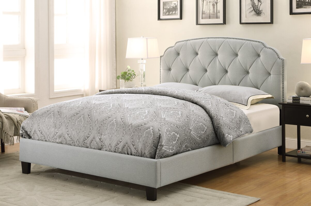 Wayfair Tufted Headboard Bedding Bedroom Transitional With: Andover Mills Anson Upholstered Panel Bed & Reviews