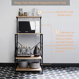 Condon Kitchen Cart Stainless Steel Top by 17 Stories