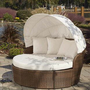 Panama Jack Outdoor Key Biscayne Patio Daybed with Sunbrella Cushions
