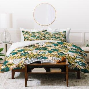 East Urban Home Marta Barragan Camarasa Tropical Bloom Duvet Set