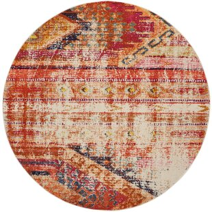 Crosier Orange Area Rug by Bungalow Rose
