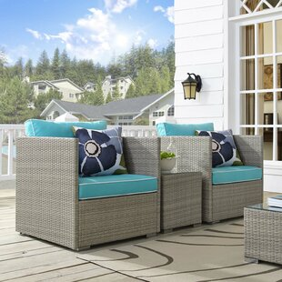 Heinrich 3 Piece Conversation Set with Cushions by Highland Dunes
