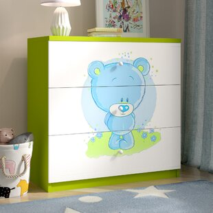 Cate 3 Drawer Chest of Drawers by Zoomie Kids