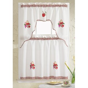 Grand Fruit Embroidered Kitchen Curtain