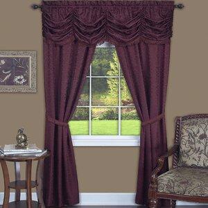 Dorchester Solid Sheer Rod Pocket Single Curtain Panel