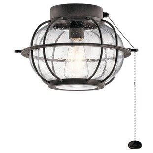 Traditional 1-Light Fitter Ceiling Fan Light Kit