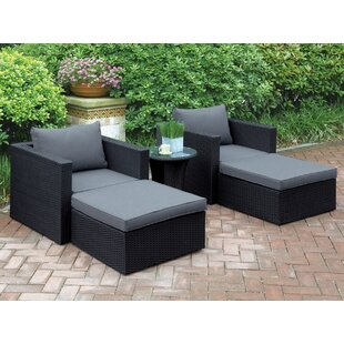 Welter 5 Piece Conversation Set with Cushions by A&J Homes Studio