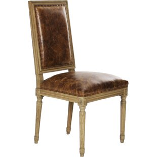 Louis Genuine Leather Upholstered Dining Chair