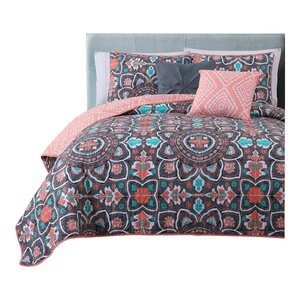 Charee 5 Piece Reversible Quilt Set