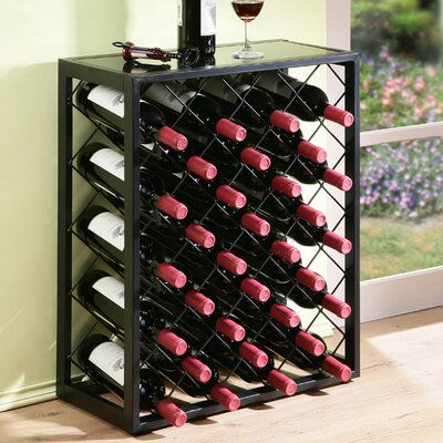 plainville 32 bottle floor wine rack