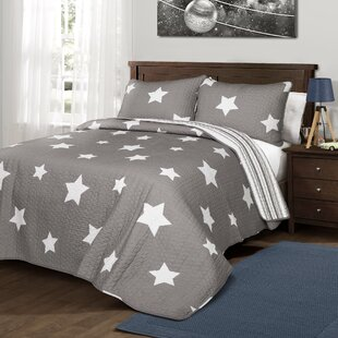 Mitchel Cotton Reversible Quilt Set
