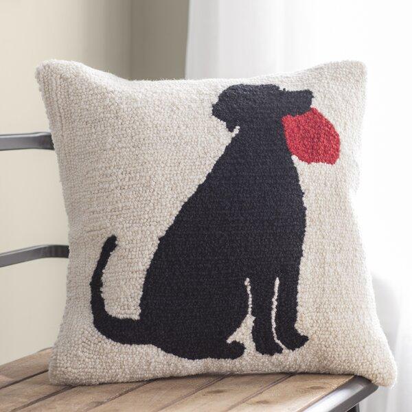 Tucker Murphy Pet Kahn I Love My Dog Wool Throw Pillow Wayfair