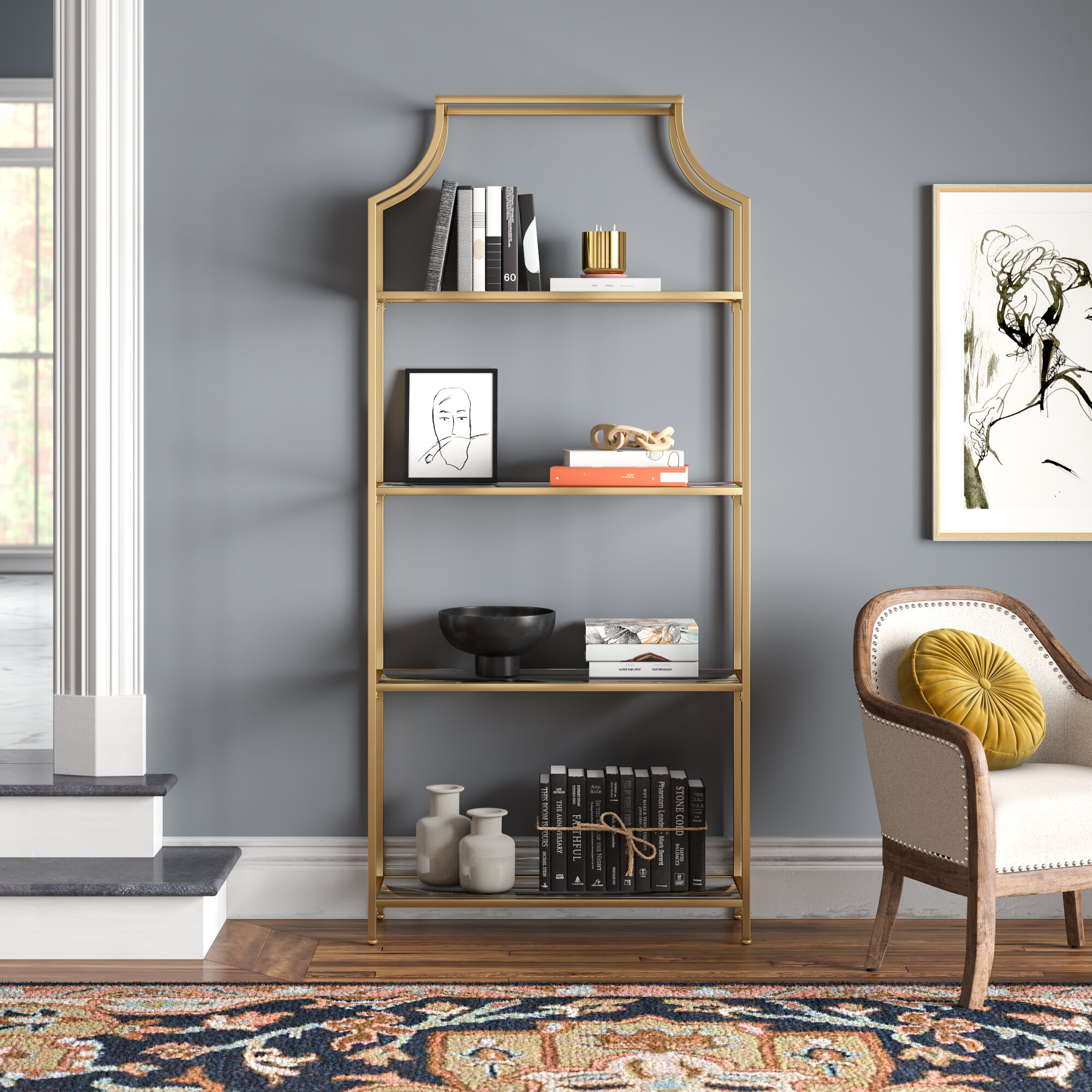 Joss Main 80 H X 36 W Stainless Steel Etagere Bookcase Reviews Wayfair