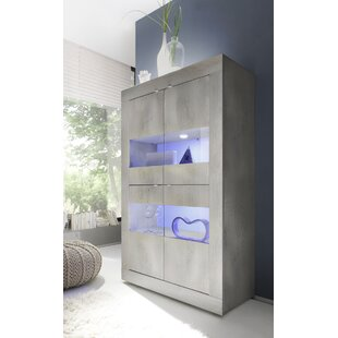 Babara Vitrine Glass 4 Door Display Cabinet By Metro Lane