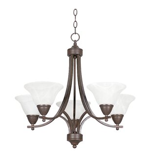 Guion 5-Light Shaded Chandelier by Fleur De Lis Living