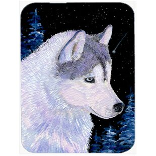 Where buy  Siberian Husky Glass Cutting Board By East Urban Home