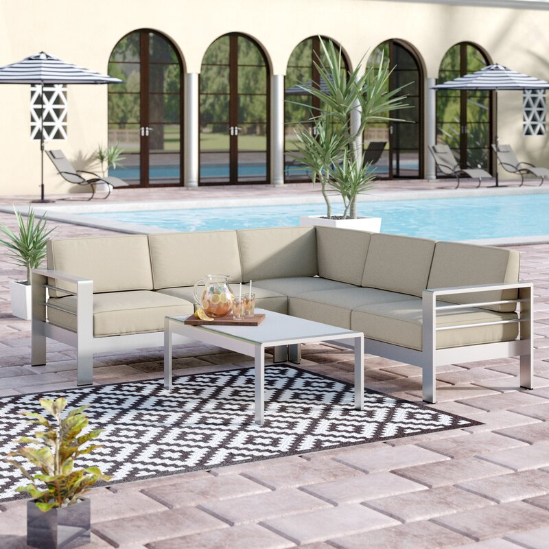Durbin 4 Piece Sectional Set With Cushions Amp Reviews