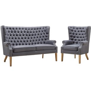 Best Choices Adger 2 Piece Standard Living Room Set by Lark Manor Reviews (2019) & Buyer's Guide