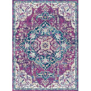 Affordable Petitt Violet Area Rug By Bungalow Rose