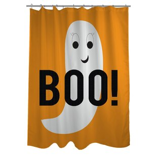 Smiley Ghost Boo Dot Single Shower Curtain
