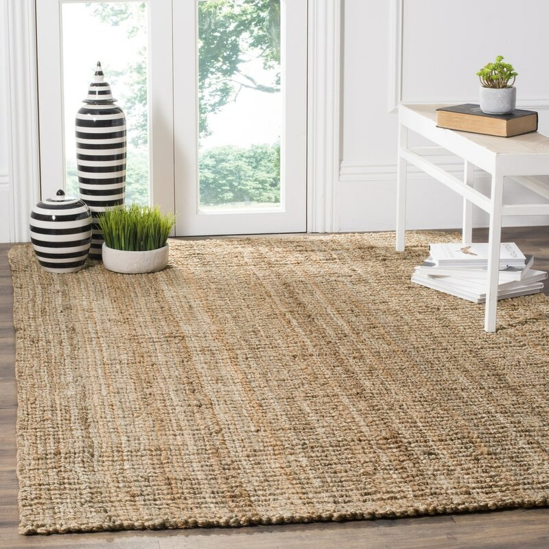Area Rugs charlton home gaines hand-woven brown area rug & reviews | wayfair