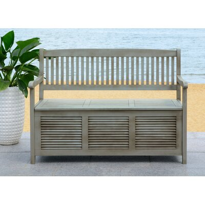 Superb One Allium Way Brisbane Acacia Garden Storage Bench Color Grey Caraccident5 Cool Chair Designs And Ideas Caraccident5Info