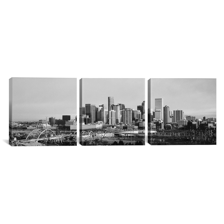 East Urban Home Denver Skyline Cityscape Sunset 3 Piece